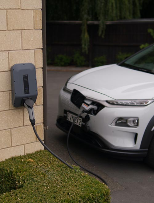 This picture shows EV charger installers in Santa Barbara