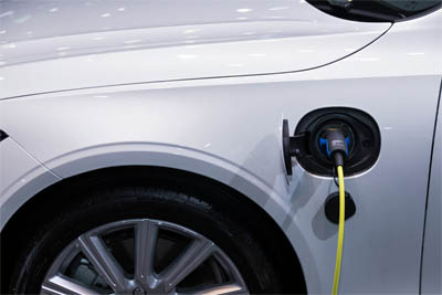 This picture shows an EV charger installation in Santa Barbara